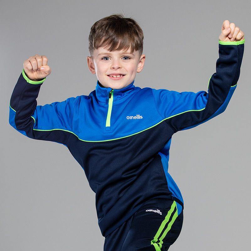 Kids' Jude Squad Half Zip Blue / Marine / Green