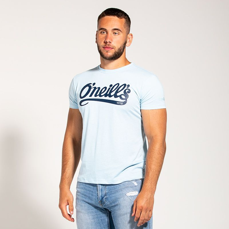 Men's Reef Signature T-Shirt Light Blue