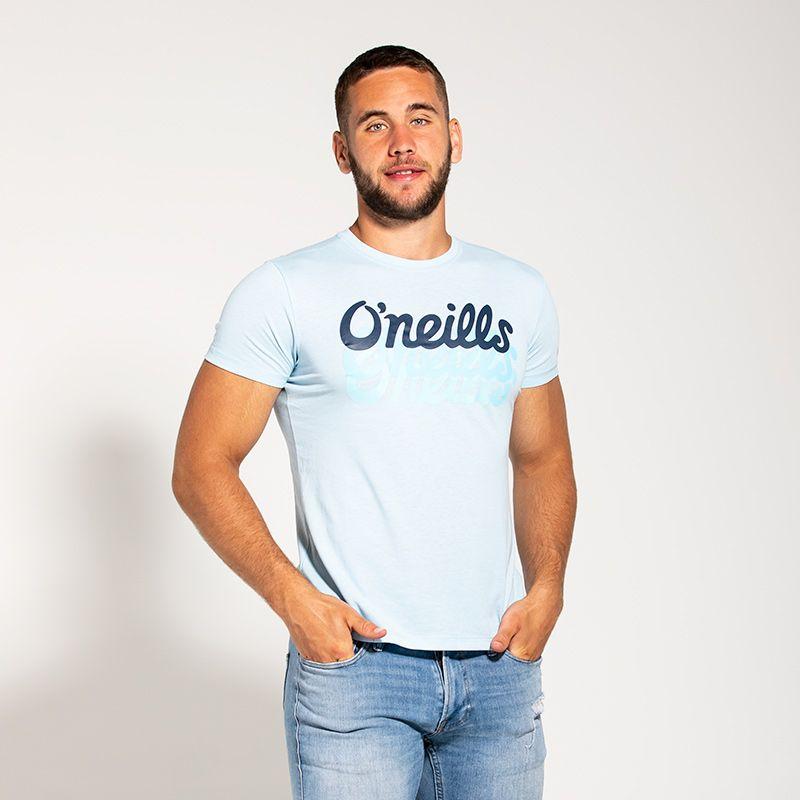Men's Reef Triple Shadow T-Shirt Light Blue