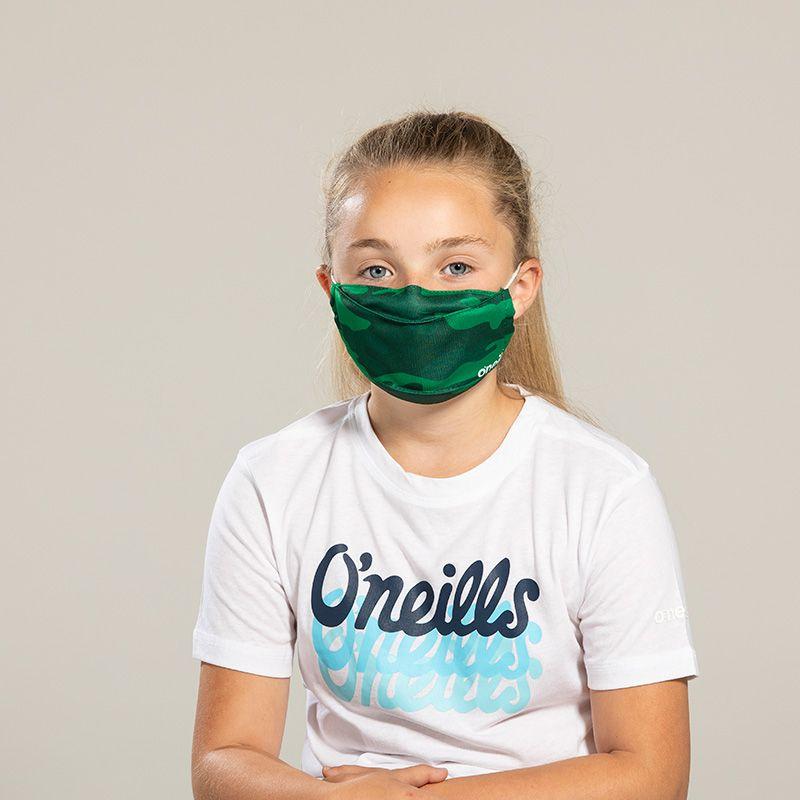 Kids' Reusable Face Mask Green Camo
