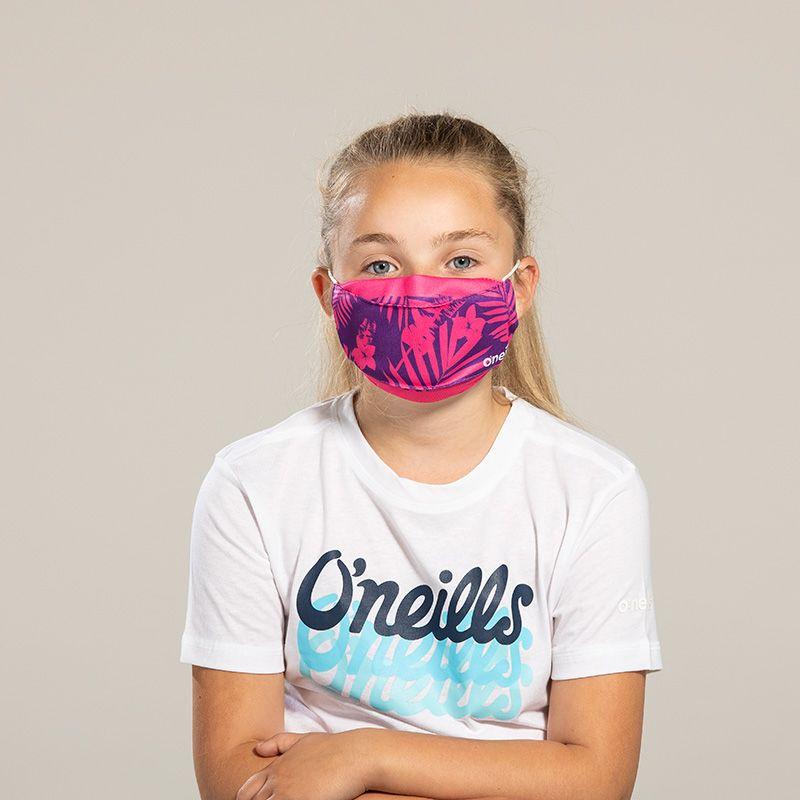 Kids' Reusable Face Mask Pink Flower