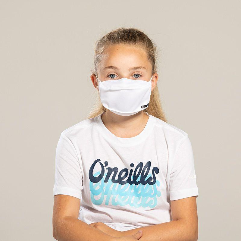 Kids' Reusable Face Mask White