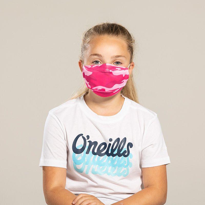 Kids' Reusable Face Mask Pink Camo