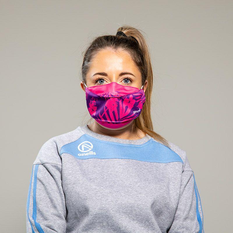 Reusable Face Mask Pink Flower