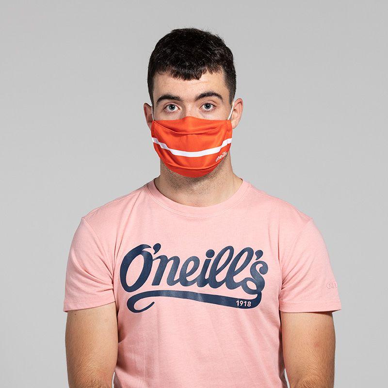 Reusable Face Mask Orange / White