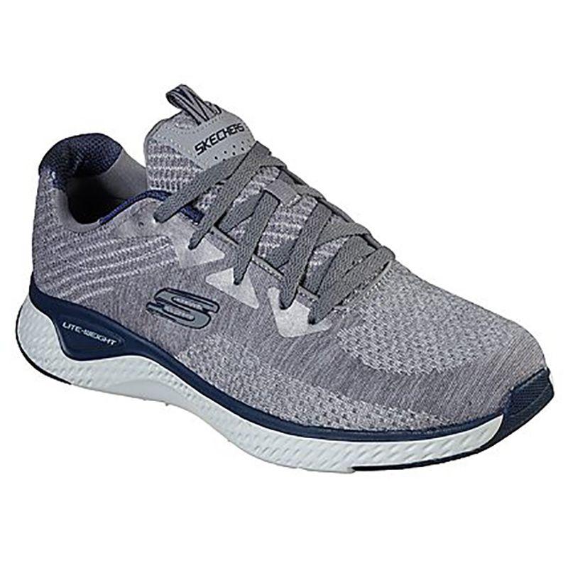 Men's Skechers Solar Fuse - Kryzik Sport Shoes Grey / Navy