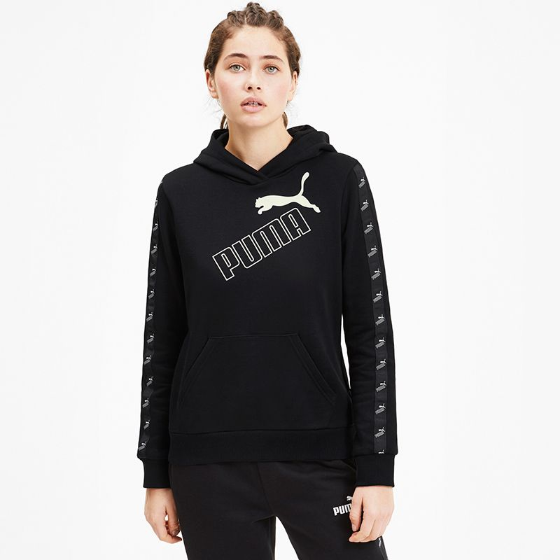 Women's Puma Amplified Hooded Top Black
