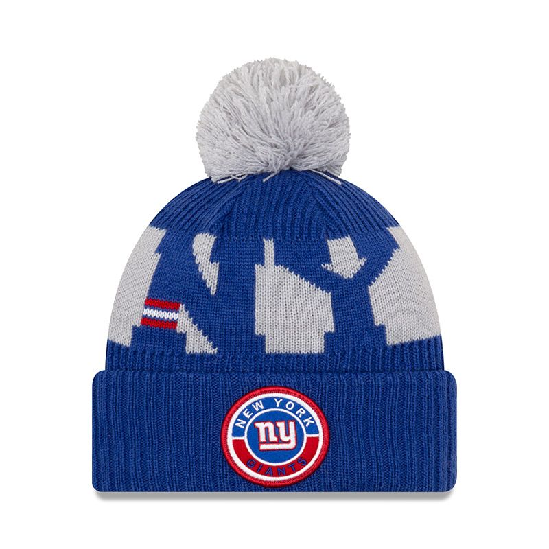 New Era New York Giants On Field Sideline Bobble Knit Blue / Grey