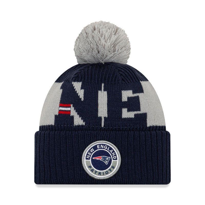 New Era New England Patriots On Field Sideline Bobble Knit Navy / Grey