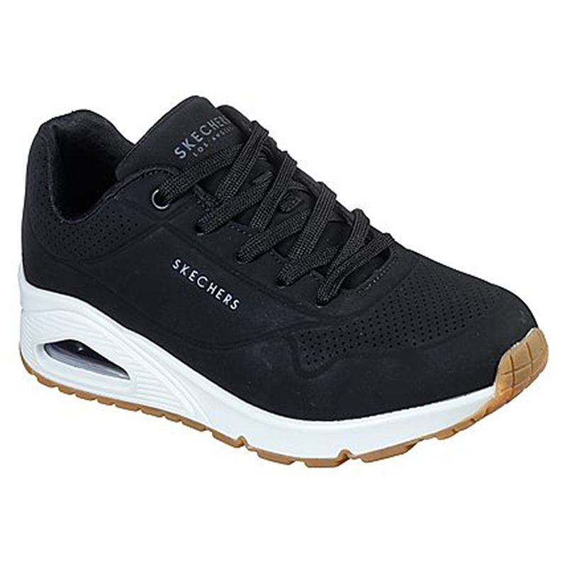 Women's Skecher Uno - Stand on Air Trainers Black / White