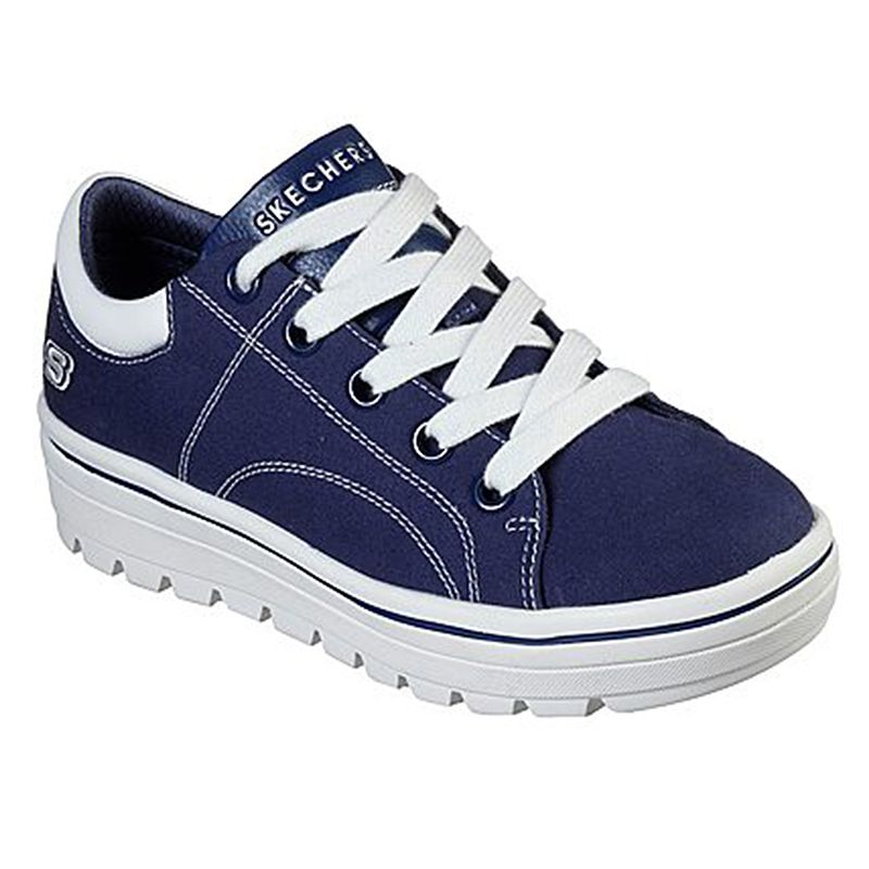 Women's Skechers Street Cleat - Bring It Back Trainers Navy / White
