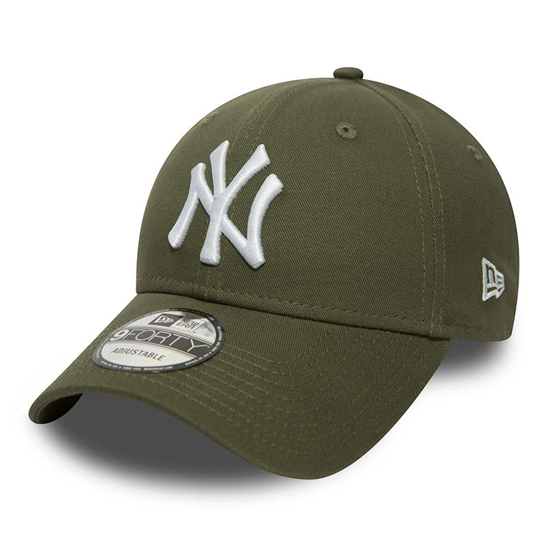 New Era 9FORTY New York Yankees Essential Baseball Cap Khaki / White