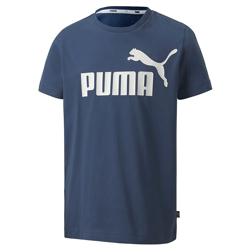 Puma Kids' Essential Logo T-Shirt Dark Denim