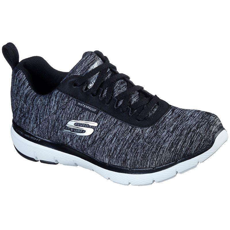 Women's Skechers Flex Appeal Jer'see Trainers Black / Grey