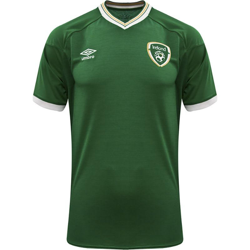 Umbro Republic of Ireland 2021 Kids' Home Short Sleeve Jersey Green