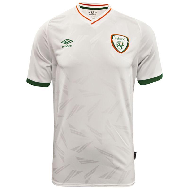 Umbro Republic of Ireland 2021 Kids' Away Short Sleeve Jersey White