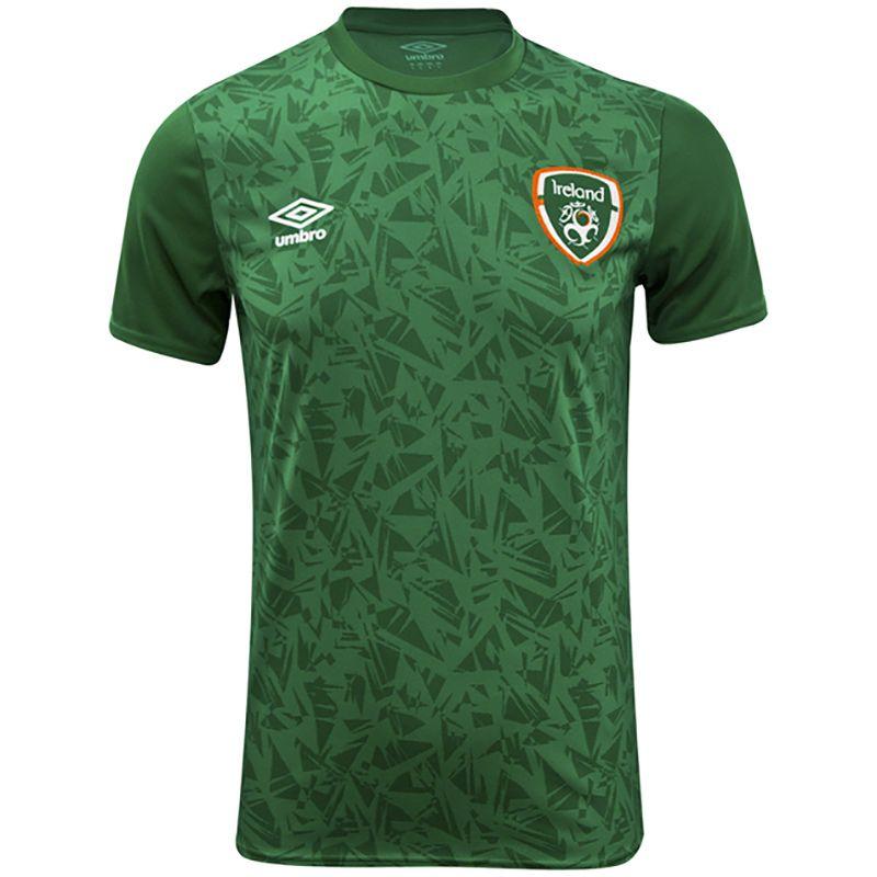 Umbro Republic of Ireland 2021 Kids' Warm Up Jersey Pine Green / Dark Pine Green