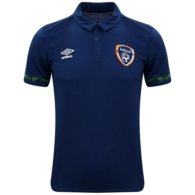 Umbro Republic of Ireland 2021 Men's Polo Shirt Navy / Pine Green