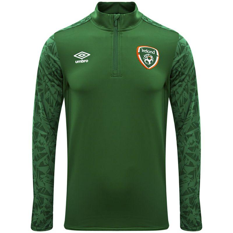Umbro Republic of Ireland 2021 Kids' Half Zip Top Pine Green / Navy