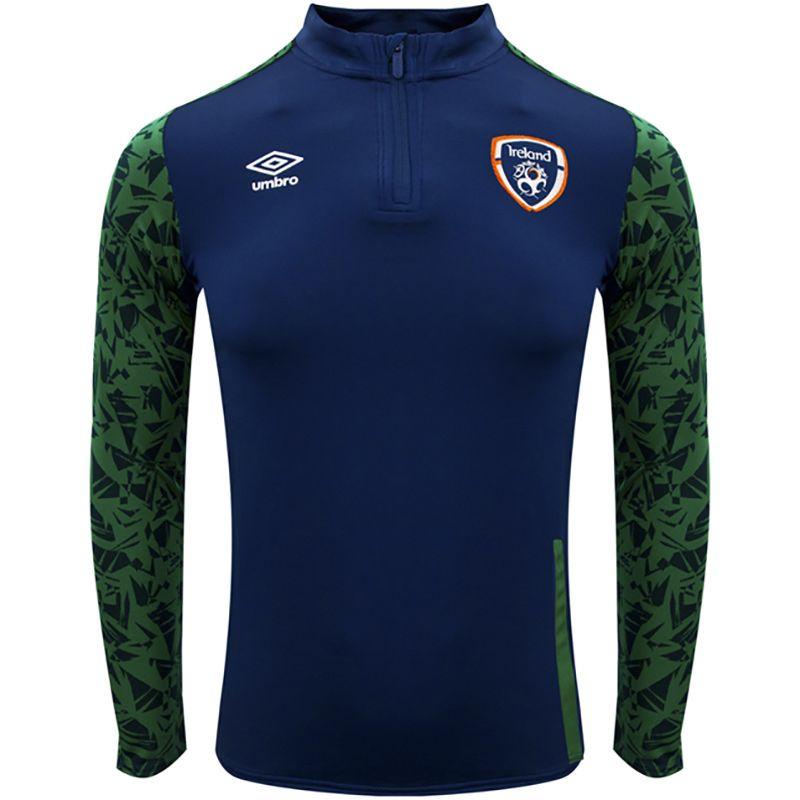 Umbro Republic of Ireland 2021 Kids' Half Zip Top Navy / Pine Green