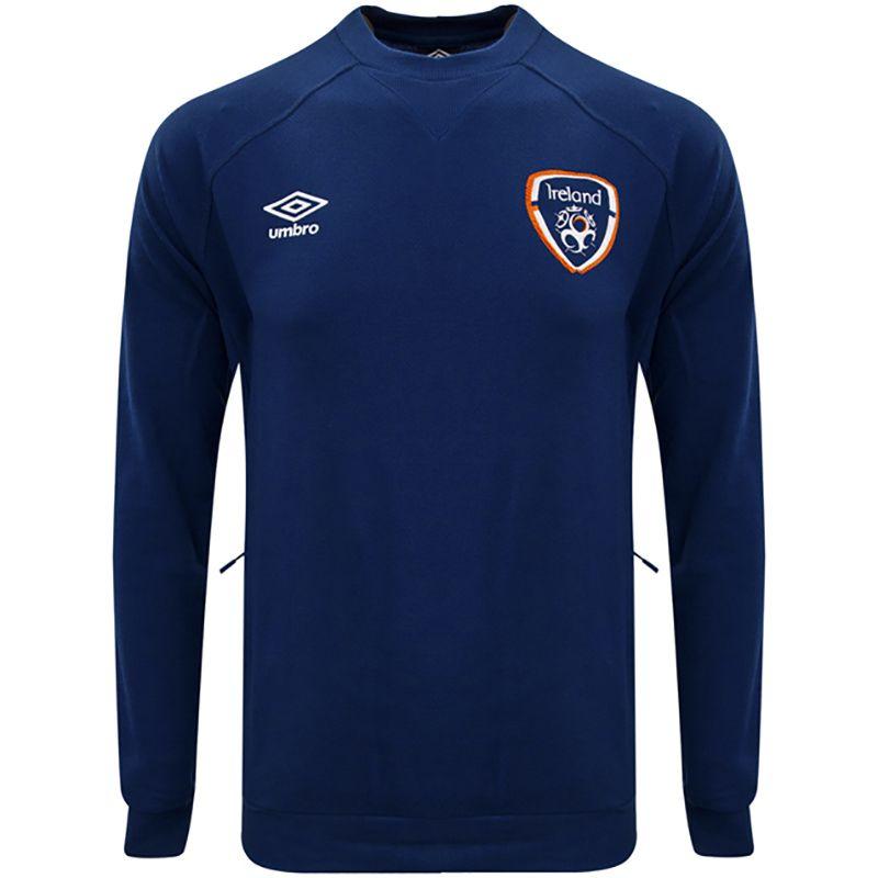 Umbro Republic of Ireland 2021 Men's Travel Sweat Top Navy