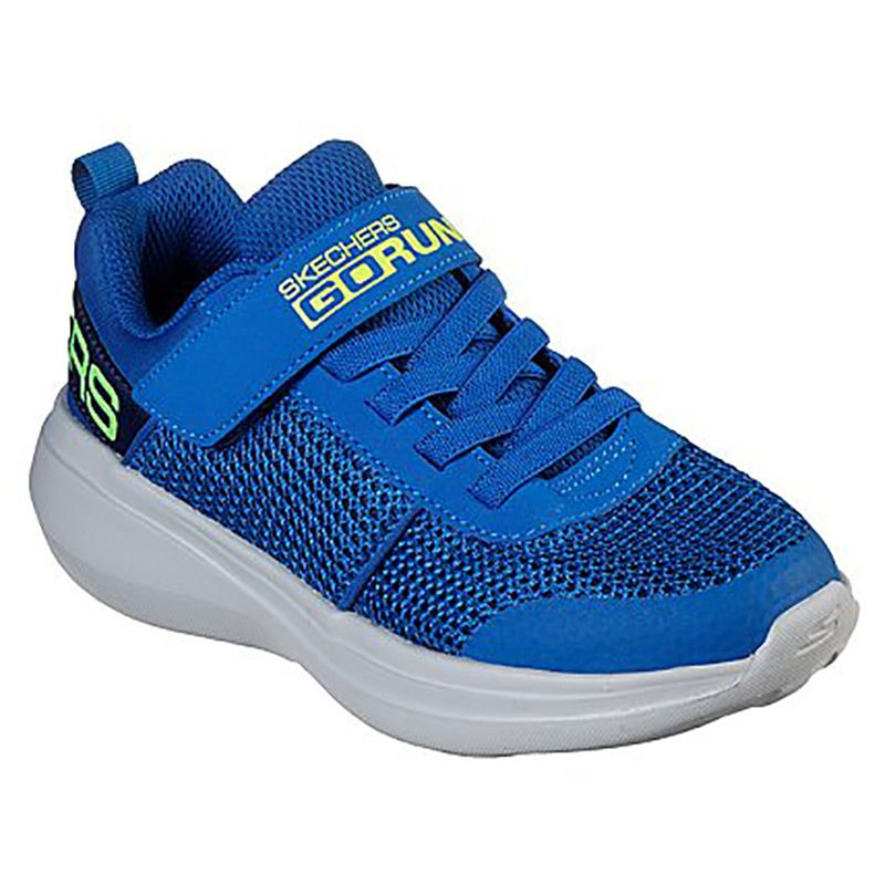 Kids' Skechers GOrun Fast Tharo Infant Trainers Blue / Lime