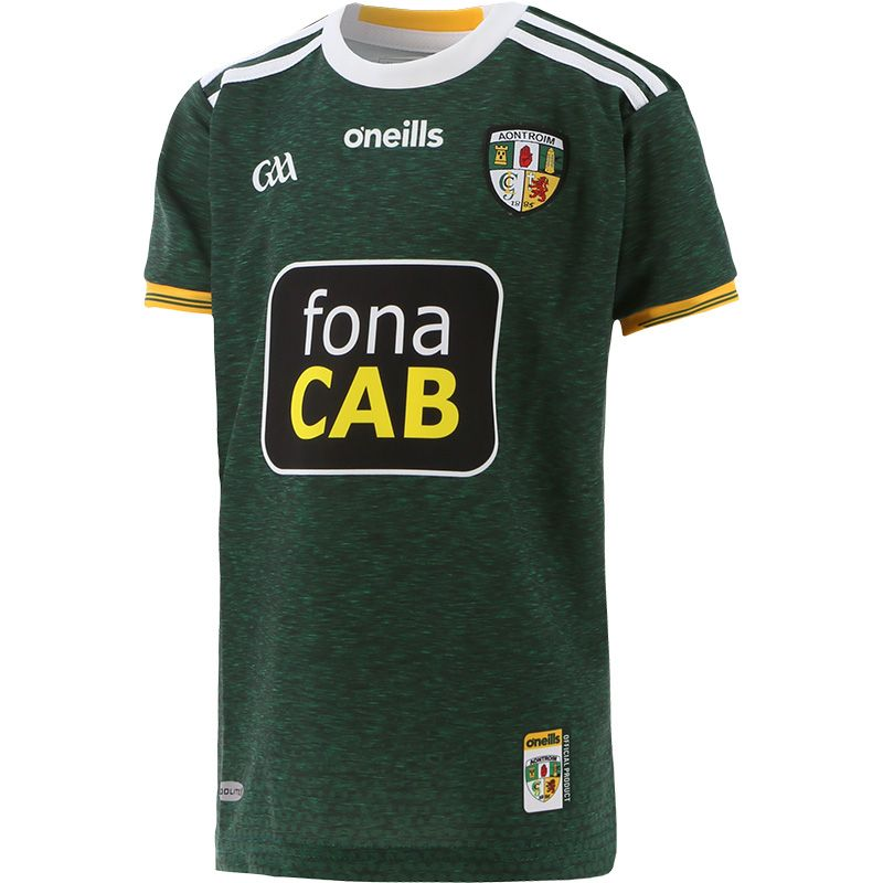 Antrim GAA Kids' 2-Stripe Away Jersey