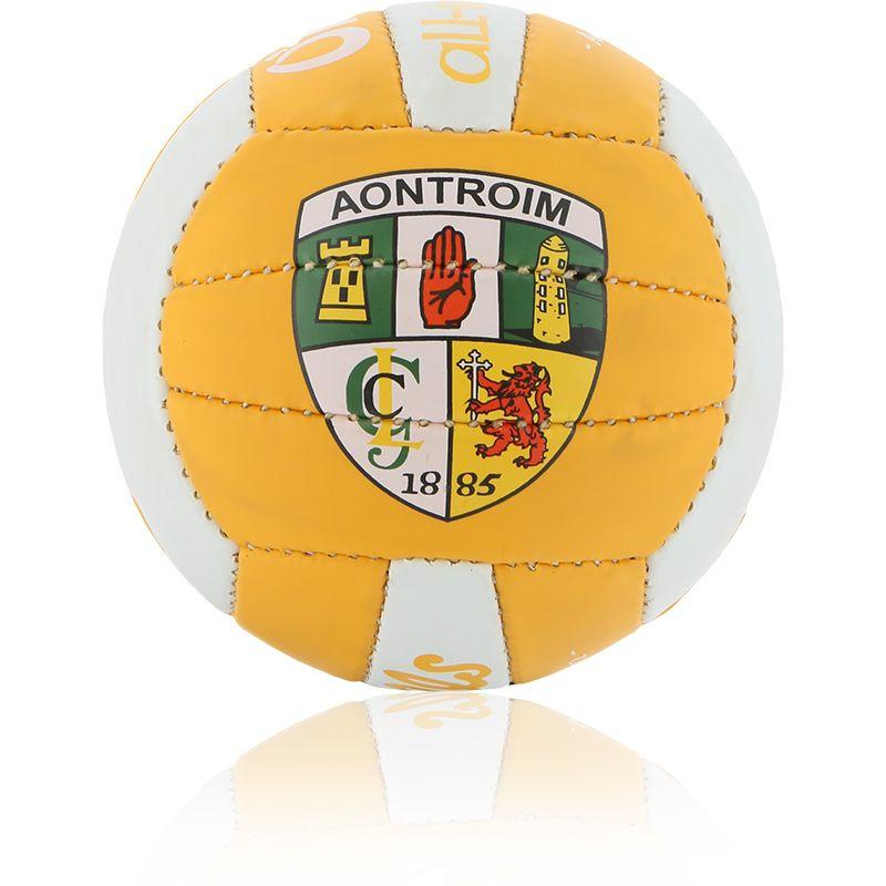 Antrim GAA All Ireland Mini Gaelic Football Amber / White