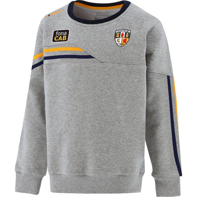 Antrim GAA Kids' Nevis Crew Neck Sweatshirt Grey / Marine / Amber