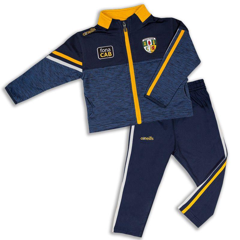 Antrim GAA Kids' Nevis Brushed Infant Suit Marine / Amber