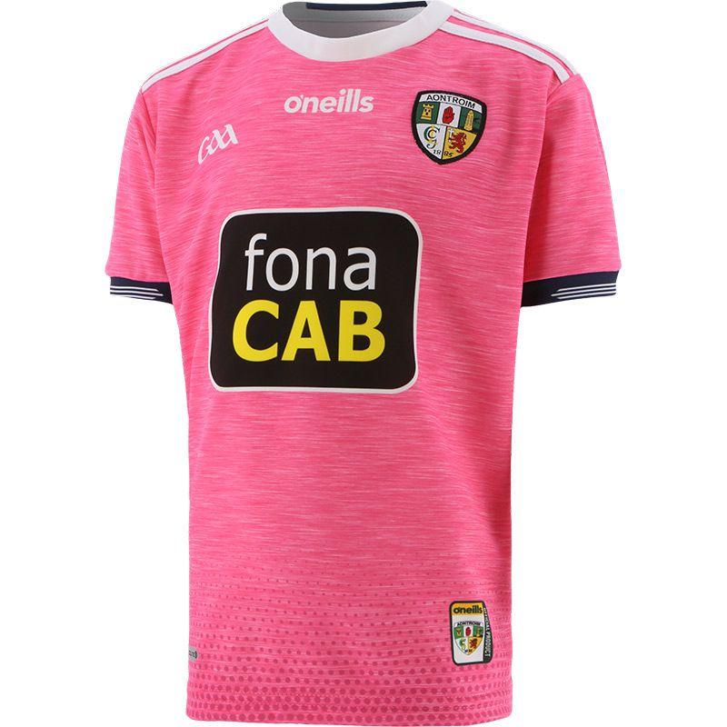Antrim GAA Kids' Away Pink Jersey