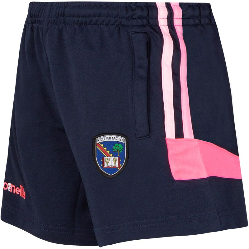 Armagh GAA Colorado 2S Shorts (Kids) (Marine/Cotton Candy/Knockout Pink)