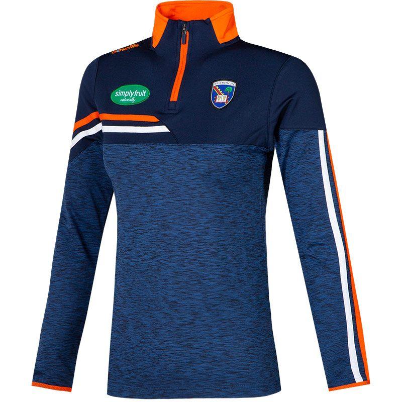 Armagh GAA Women's Nevis  Brushed Midlayer Half Zip Top Marine / Orange