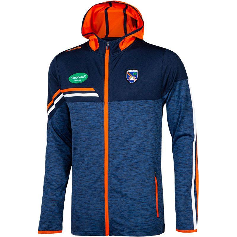 Armagh GAA Men's Nevis Brushed Full Zip Hoodie Marine / Orange