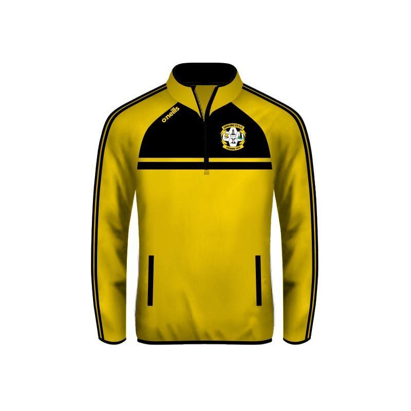 Ashbourne United Mason Half Zip Squad Top Gold
