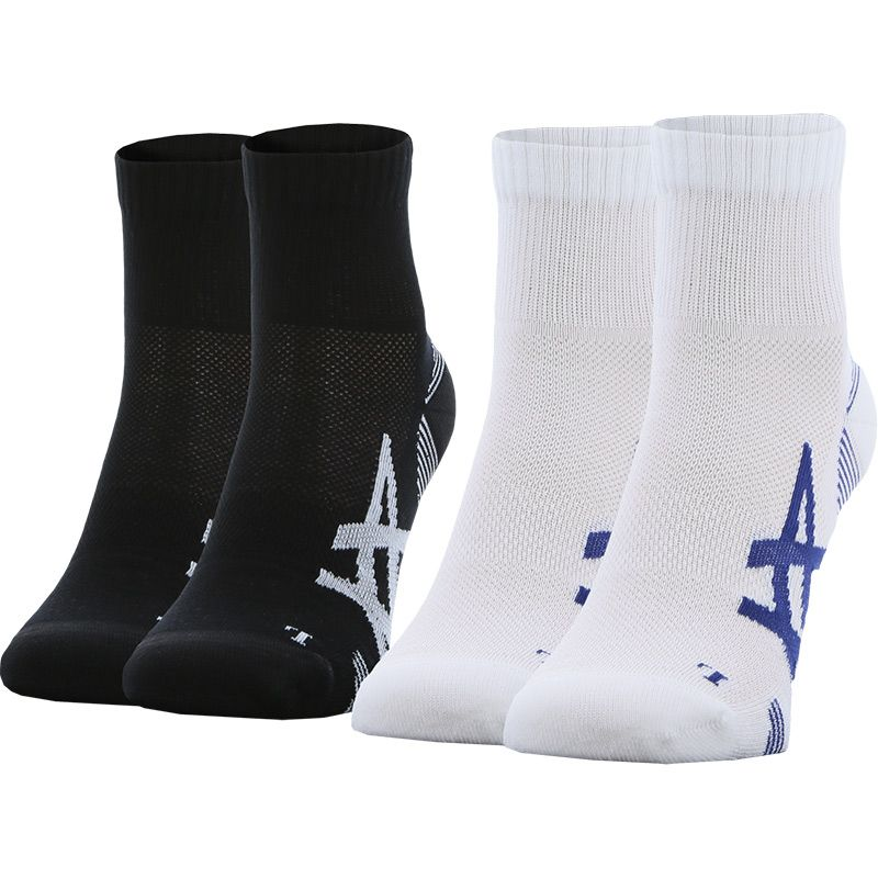ASICS 2 Pack Cushioning Socks Black / White