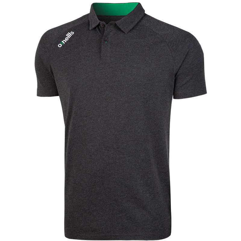 Men's Aspen Polo Marl Black / Emerald