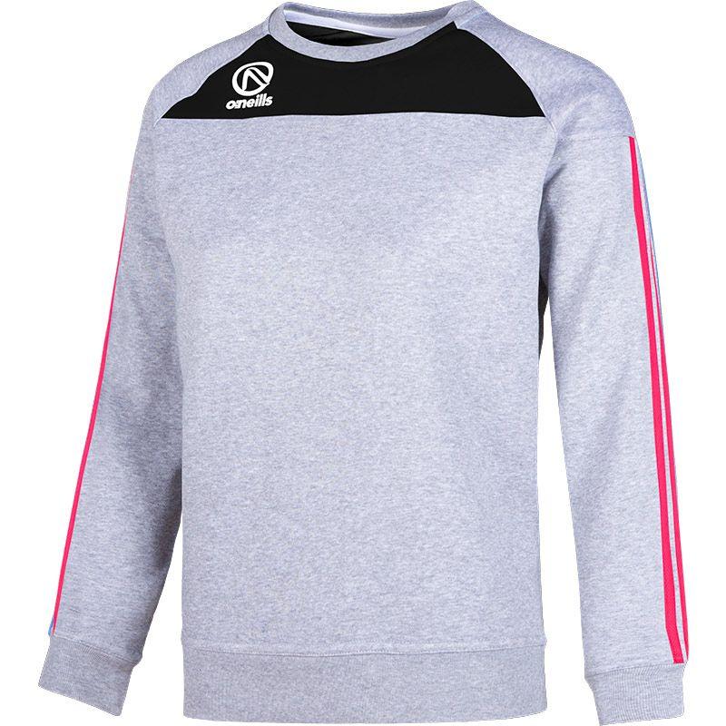 Women's Aston Crew Neck Sweatshirt Grey / Black / Pink