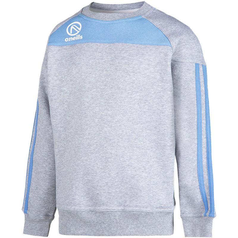 Kids' Aston Crew Neck Sweatshirt Grey / Sky