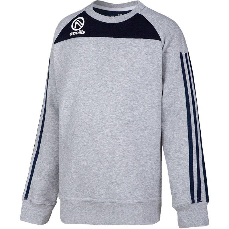 Kids' Aston Crew Neck Sweatshirt Grey / Marine