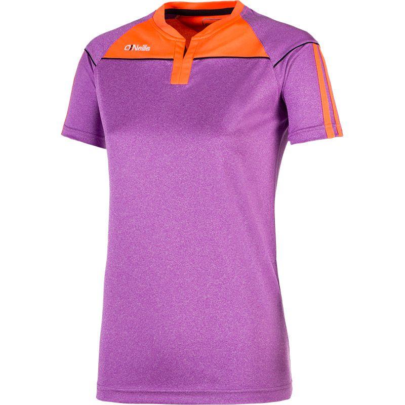 Aston 3S T-Shirt (Marl Deep Purple/Vibrant Coral/Marine)