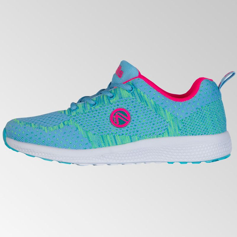 Astrid Lace Trainers (Junior) (Sky/Flo Pink)