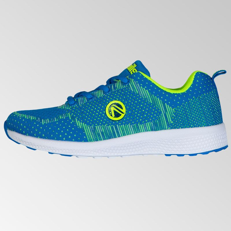 Astrid Lace Trainers (junior) (Swedish Blue/Neon Lime)