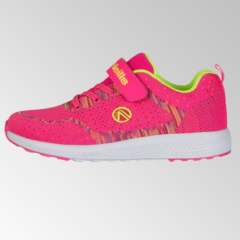 Astrid Velcro Trainers (Pre-School) (Flo Pink/Neon Lime)