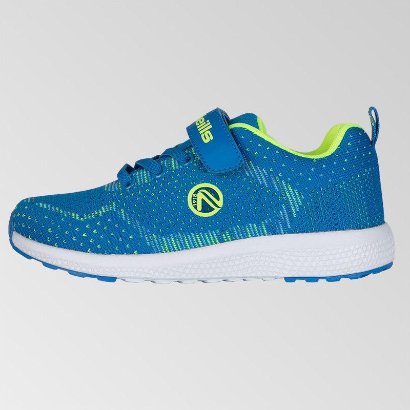 Astrid Velcro Trainers (Pre-School) (Swedish Blue/Neon Lime)