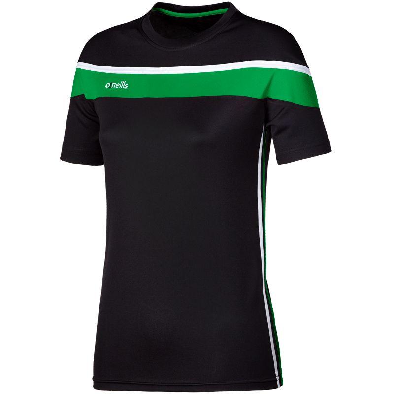Women's Auckland T-Shirt Black / Green / White