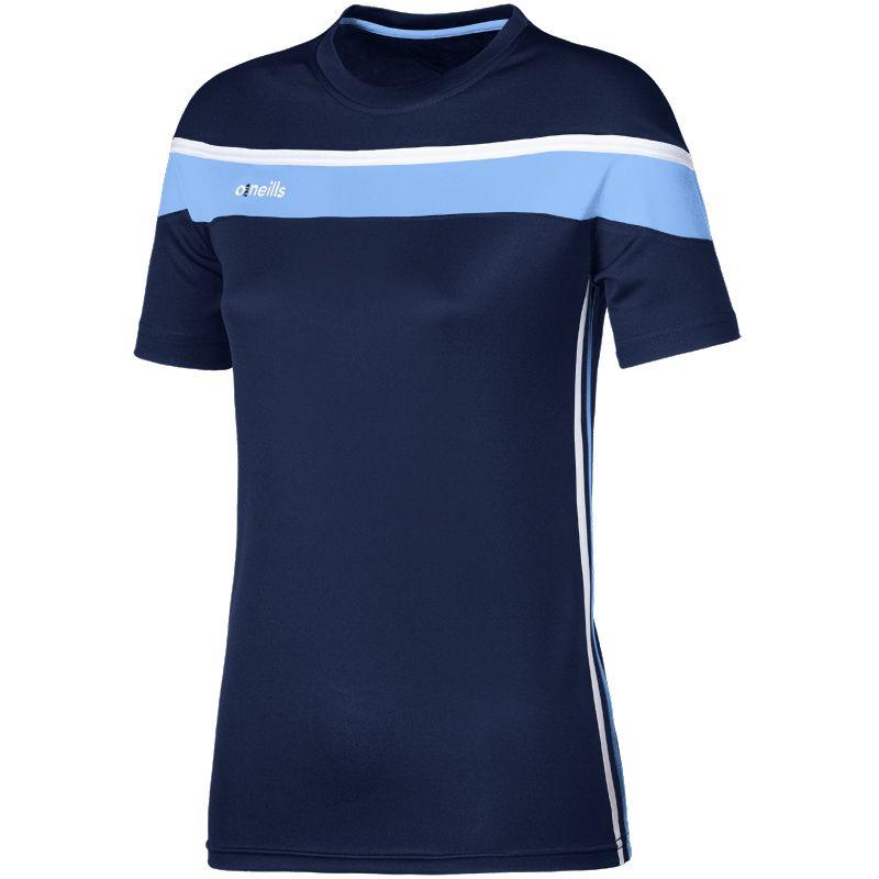 Women's Auckland T-Shirt Marine / Sky / White