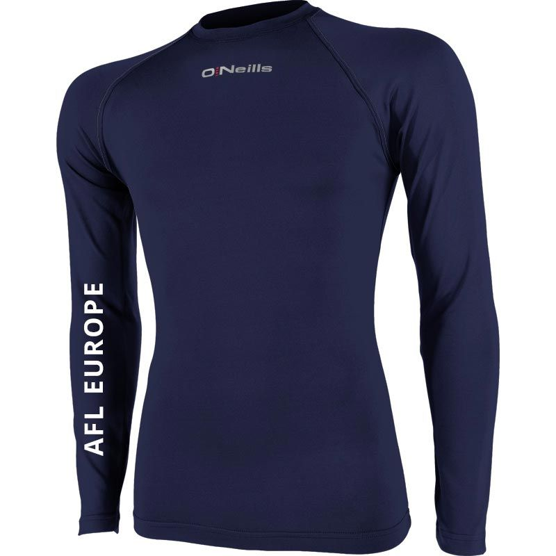 AFL EUROPE Pure Baselayer Long Sleeve Top (Kids) (Navy)