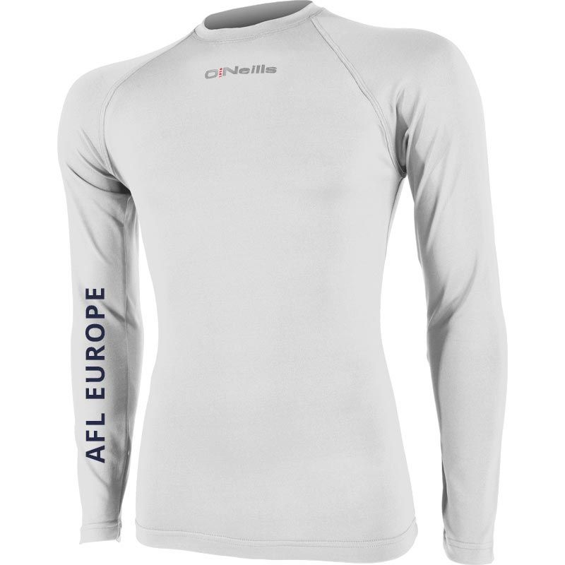 AFL EUROPE Pure Baselayer Long Sleeve Top (White)