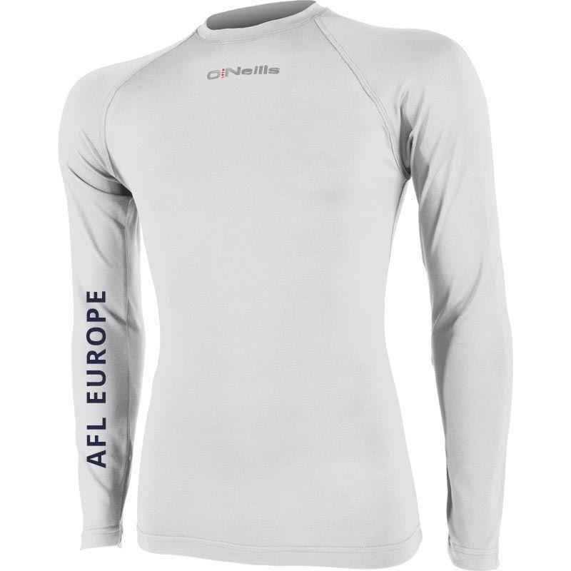 AFL EUROPE Pure Baselayer Long Sleeve Top (Kids) (White)